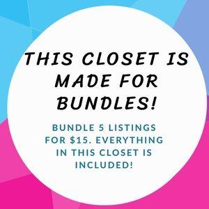 Bundle 5 listings for $15!